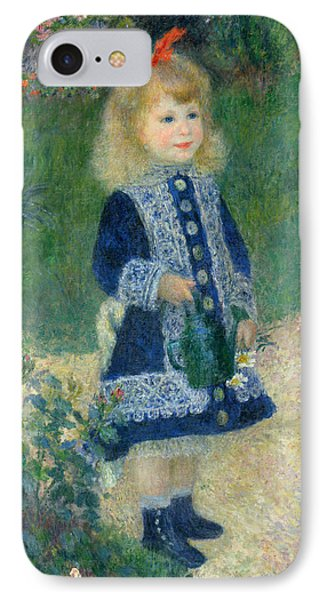 A Girl With A Watering Can IPhone Case by Auguste Renoir