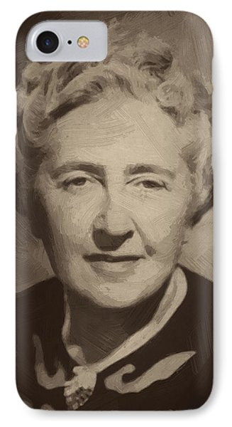 Agatha Christie 2 IPhone Case by Afterdarkness