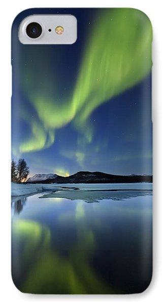 Aurora Borealis Over Sandvannet Lake IPhone Case