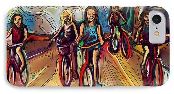5 Bike Girls IPhone Case