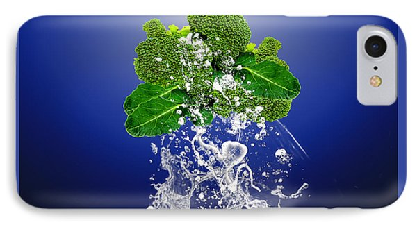Broccoli Splash IPhone Case by Marvin Blaine