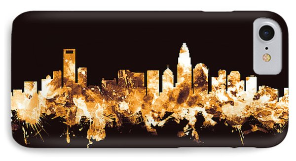 Charlotte North Carolina Skyline IPhone Case