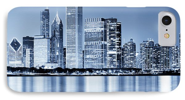 Chicago Skyline At Night IPhone Case