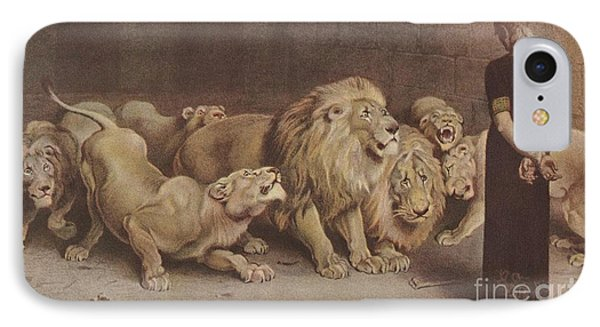 Daniel In The Lions Den IPhone Case by MotionAge Designs