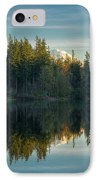 Deep Lake, Late Afternoon IPhone Case by Rich Leighton