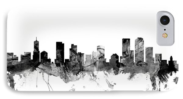 Denver Colorado Skyline IPhone Case by Michael Tompsett