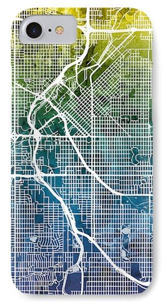 Denver Colorado Street Map IPhone Case by Michael Tompsett