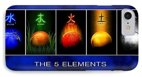 Asian Art 5 Elements Of Tcm IPhone Case by John Wills