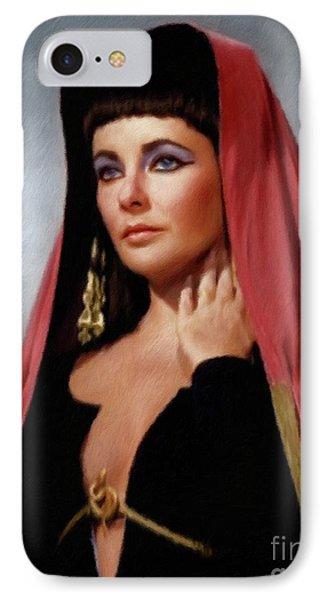 Elizabeth Taylor iPhone 7 Case - Elizabeth Taylor, Vintage Actress by Mary Bassett