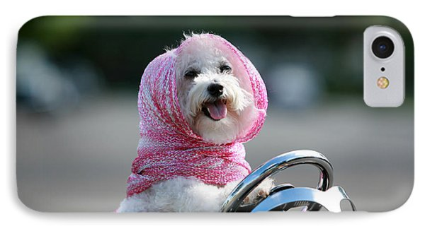 Fifi Goes For A Ride Phone Case by Michael Ledray