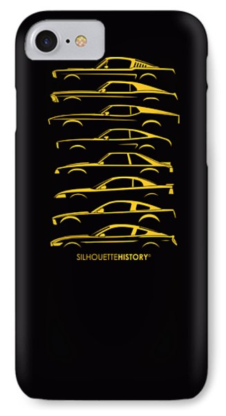 Ford Mustang Silhouettehistory IPhone Case