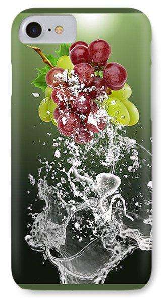 Grape Splash IPhone Case by Marvin Blaine