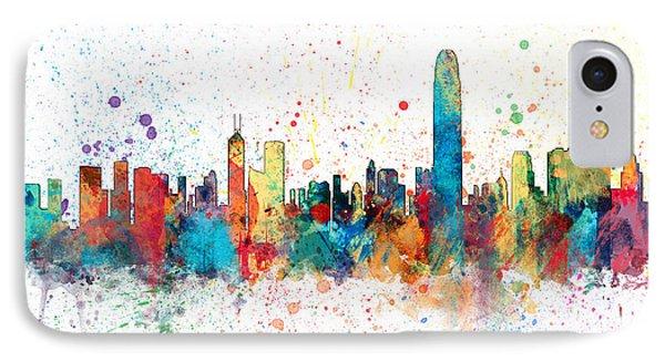 Hong Kong Skyline IPhone 7 Case by Michael Tompsett