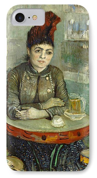 In The Cafe Agostina Segatori In Le Tambourin IPhone Case by Vincent van Gogh