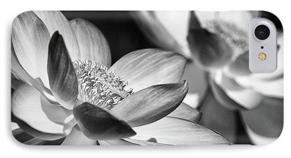 Lotus Black And White Art Series IPhone Case