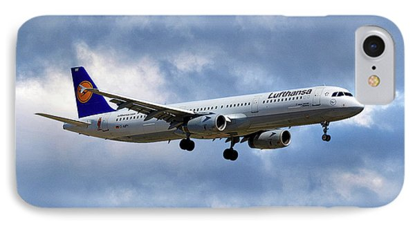 Jet iPhone 7 Case - Lufthansa Airbus A321-131 by Smart Aviation