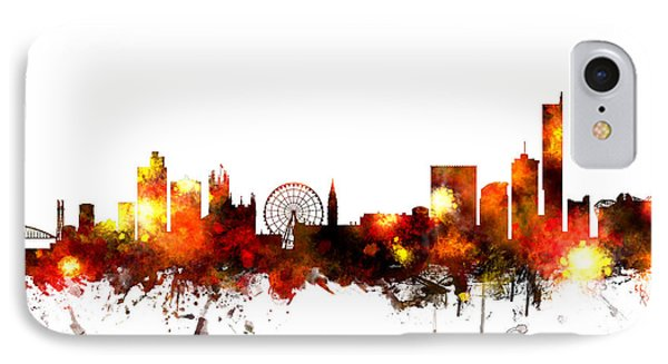 Manchester England Skyline IPhone Case