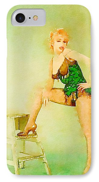 Marilyn Pinup By Frank Falcon IPhone Case by Frank Falcon