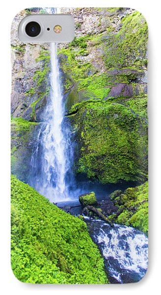 IPhone Case featuring the photograph Multnomah Falls by Jonny D