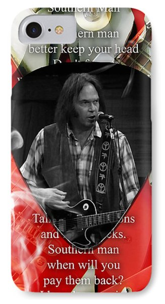 Neil Young Art IPhone 7 Case