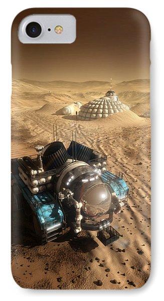 Mars Exploration Vehicle Phone Case by Bryan Versteeg