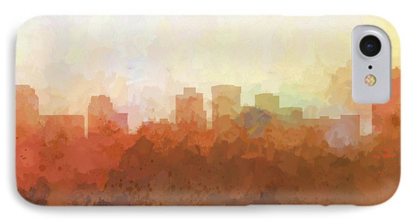 IPhone Case featuring the digital art Norfolk Virginia Skyline by Marlene Watson
