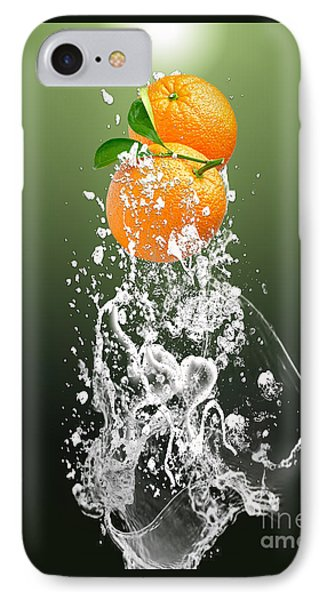 Orange Splash IPhone Case
