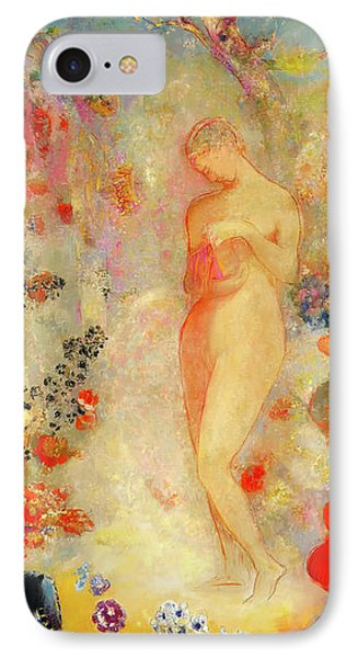 IPhone Case featuring the painting Pandora by Odilon Redon