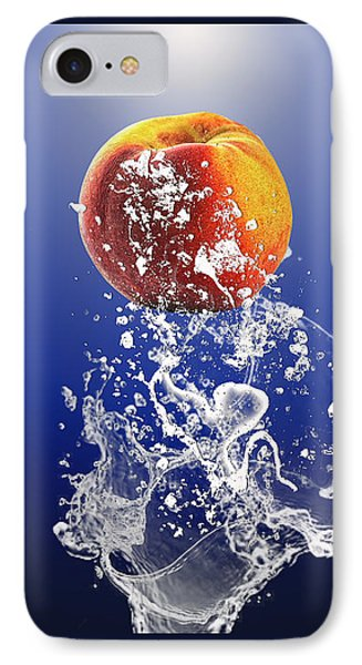 Peach Splash IPhone Case by Marvin Blaine