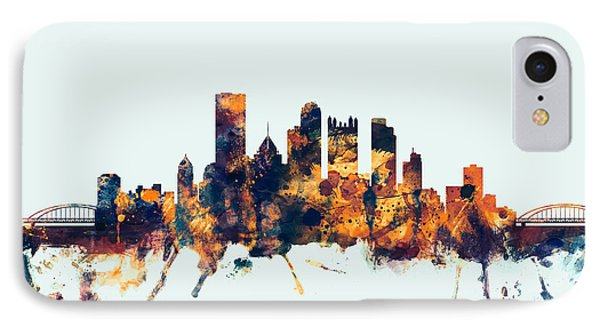 Pittsburgh Pennsylvania Skyline IPhone Case by Michael Tompsett