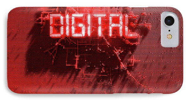 Pixel Digital Concept IPhone Case by Allan Swart