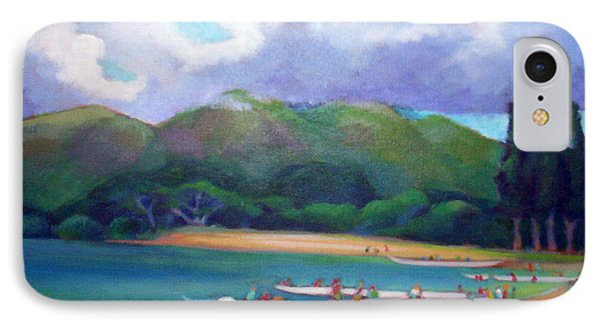 5 P.m. Canoe Club IPhone Case by Angela Treat Lyon