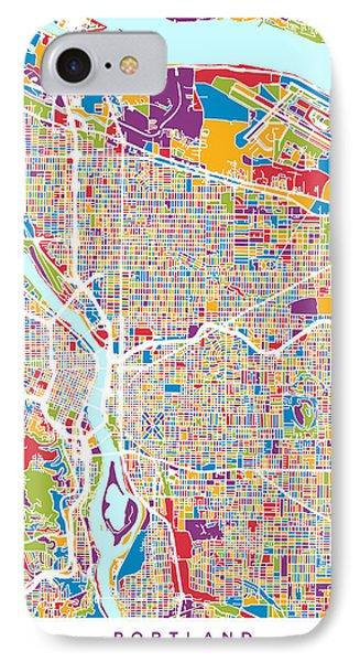 Portland Oregon City Map IPhone Case