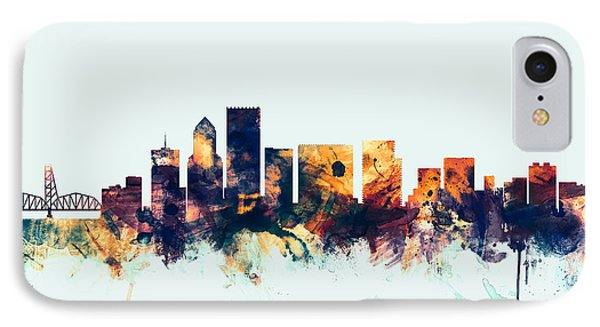 Portland Oregon Skyline IPhone Case