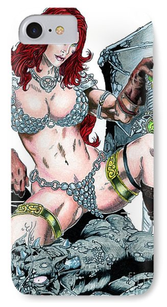 Red Sonja Phone Case by Bill Richards