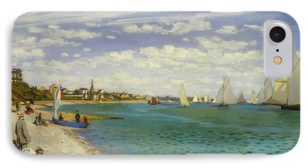 Regatta At Sainte-adresse IPhone Case by Claude Monet