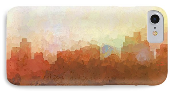 IPhone Case featuring the digital art Reno Nevada Skyline by Marlene Watson