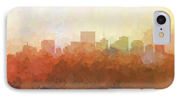 IPhone Case featuring the digital art Richmond Virginia Skyline by Marlene Watson