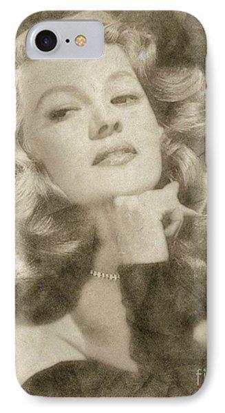 Rita Hayworth Vintage Hollywood Actress IPhone Case