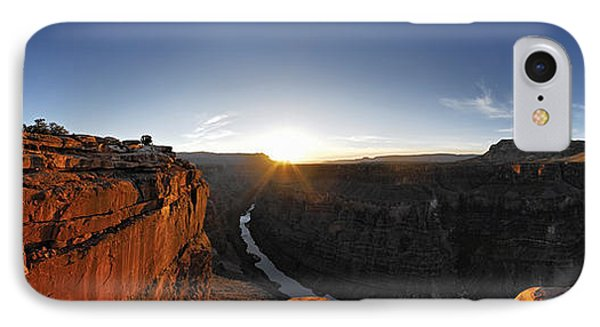 River Passing Through A Canyon IPhone Case by Panoramic Images