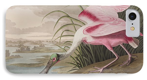 Roseate Spoonbill IPhone 7 Case by John James Audubon
