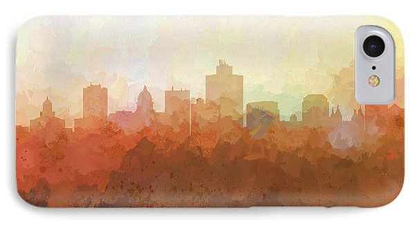 IPhone Case featuring the digital art Salt Lake City Utah Skyline by Marlene Watson
