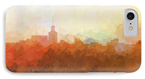 IPhone Case featuring the digital art Santa Fe New Mexico Skyline by Marlene Watson