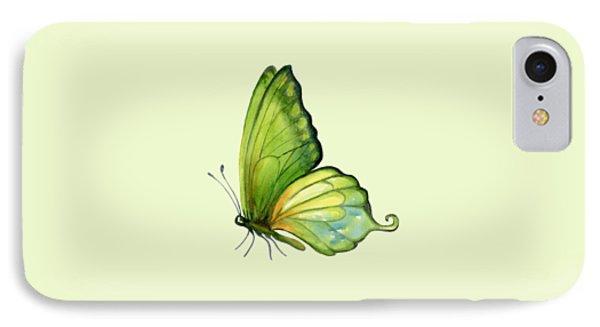 5 Sap Green Butterfly IPhone Case by Amy Kirkpatrick