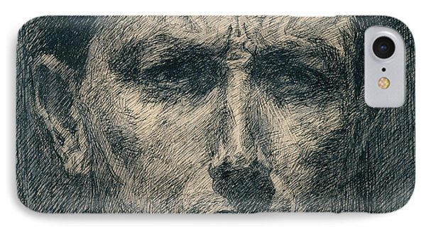 Self Portrait IPhone Case by Umberto Boccioni