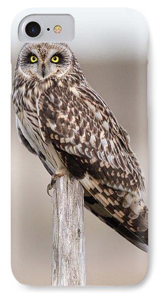 Short Eared Owl IPhone 7 Case by Ian Hufton