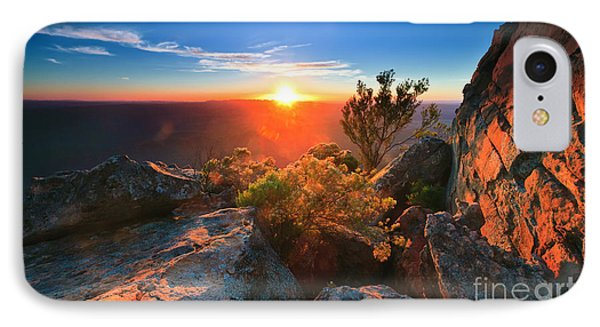 IPhone Case featuring the photograph St Mary Peak Sunrise by Bill  Robinson