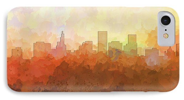IPhone Case featuring the digital art St Paul Minnesota Skyline by Marlene Watson
