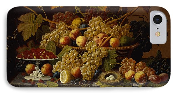 Still Life With Fruit IPhone Case by Severin Roesen
