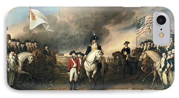 Surrender Of Lord Cornwallis IPhone Case by John Trumbull
